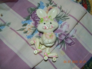 A vintage Avon Easter Bunny pin from 1972
