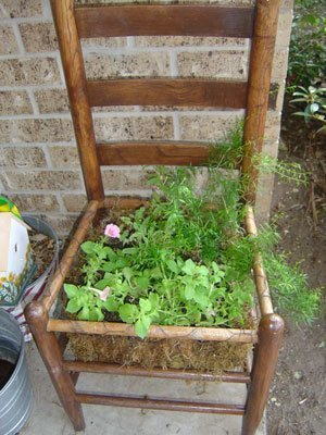 Making A Chair Planter Thriftyfun