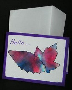 Coffee filter tie dye note cards