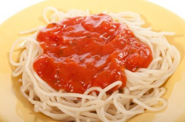 Spaghetti on Plate