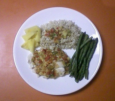 Tilapia With Pineapple and Apple Salsa