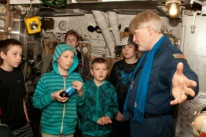 Boys on Submarine Tour