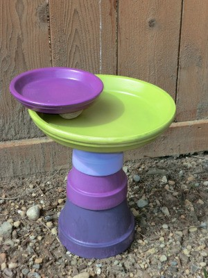Finished birdbath.
