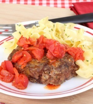 Salisbury Steak WIth Egg Noodles