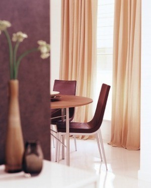 Color Coordinated Curtains in Modern Home