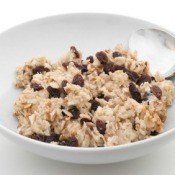 Bowl of Raisin Oatmeal