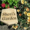 "Stepping Ston With ""Sheri's Garden"" on it"