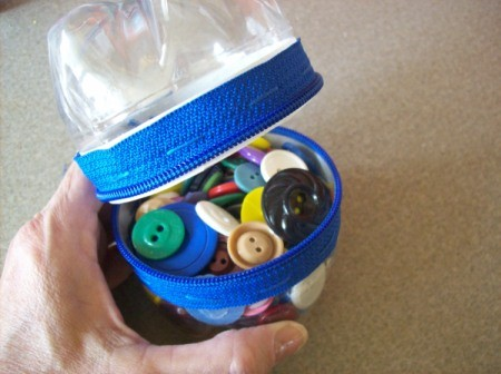 Fill Zippered Bottle Container