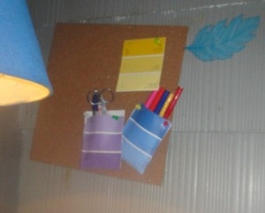 Use Paint Colour Strips As Wall Pockets