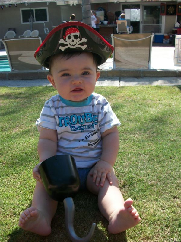 Baby in Pirate Costume