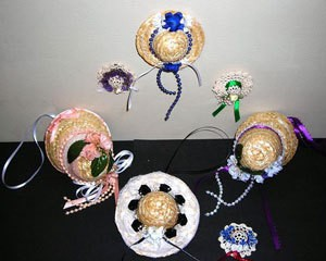 Decorated mini hats