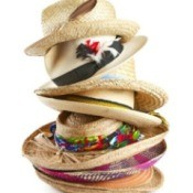 Decorating Straw Hats