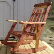 Cedar Rocking Chair for Mom
