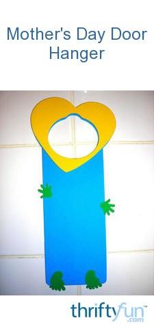 Aiden S Mother S Day Doorhanger Thriftyfun