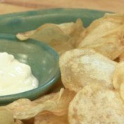 Homemade Potato Chips and Dip