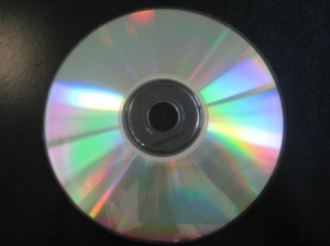 Backside of CD