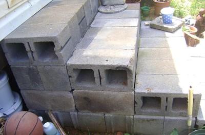 Making Steps with Cinder Blocks ThriftyFun