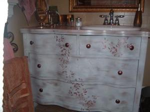 Vanity From Refurbished Dresser