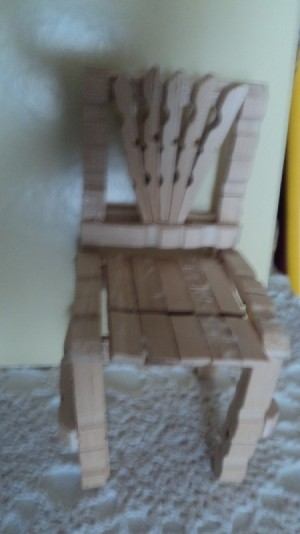 Clothes Pin Chairs