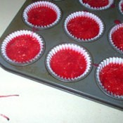 Homemade firestarters made in muffin tins