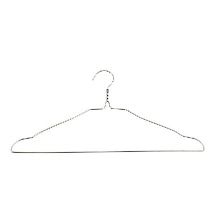 Wire Coat Hanger on White Background