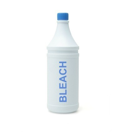Bleach Bottle on White Background