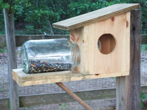 Homemade Wood Bird Feeders