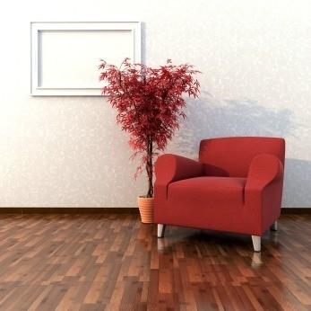 Red Chair on Hardwood Floor