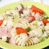 Pasta Salad with Ham on Table
