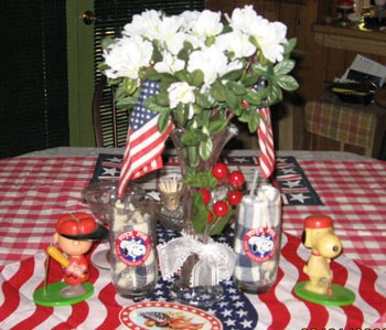 enjoy decorating for the month of July because my son and husbands ...