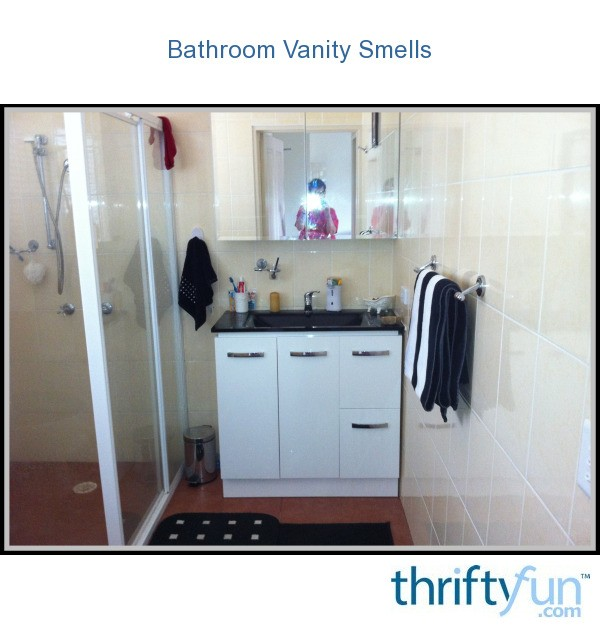 Bathroom vanity unit has bad smell thriftyfun for Bad smell in kitchen cabinets