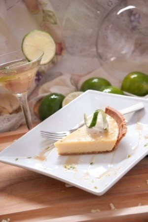 Margarita Pie on White Plate
