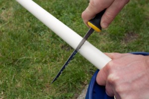 Cutting Off PVC Pipe