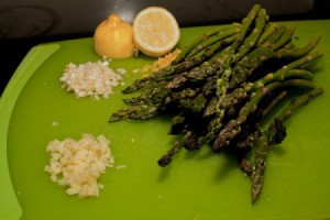 Sauteed Lemon Ginger Asparagus Ingredients