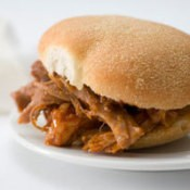 A pulled pork sandwich