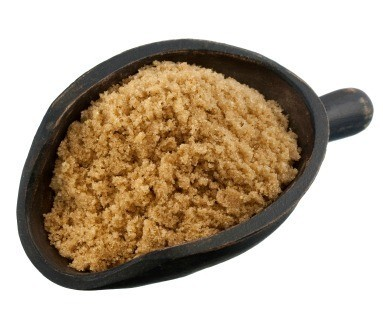 Wooden Scoop of Brown Sugar