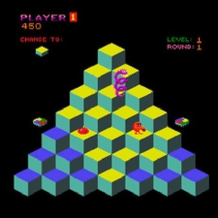 Screenshot from the video game qbert.