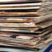 Stack of Record Albums