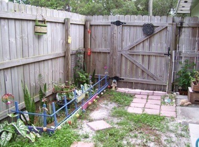 Photo of a garden made for kids.