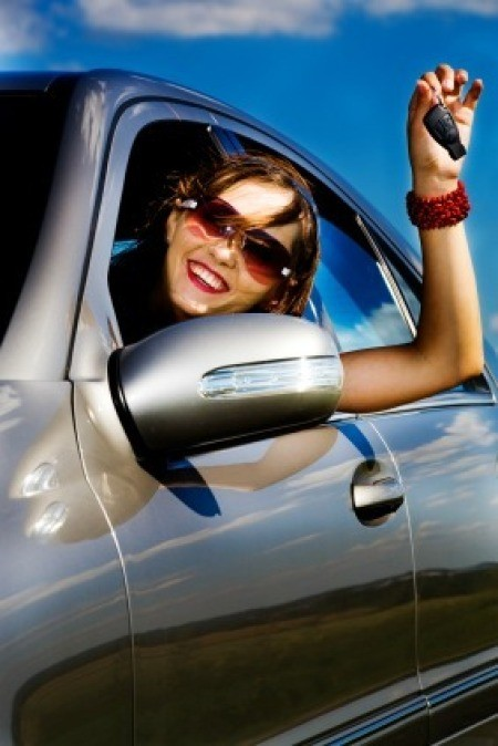 Woman Driving in Summer