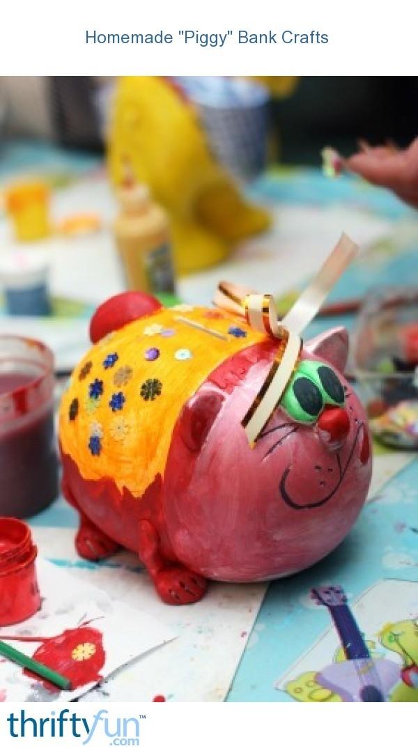Homemade piggy bank crafts thriftyfun for Make a piggy bank craft