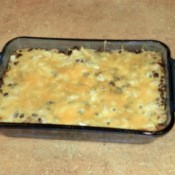 Finished Enchilada Casserole