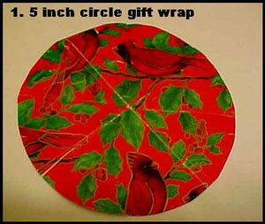 Circle cut from wrapping paper.