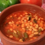 Bean Soup With Green Pepper and Tomato