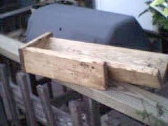 View of wooden jig.