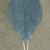 Jeans tennis racket cover.