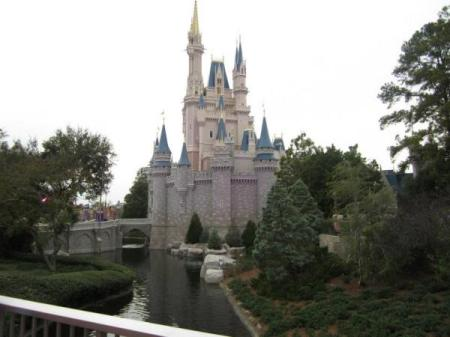 Rear of the castle at Disney World in Florida.