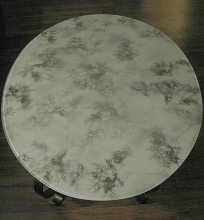 Leaf Patterned Glass Table Top