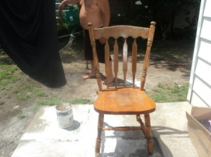 Chair before painting.