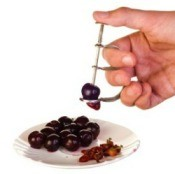 Pitting Cherries With Cherry Pitter